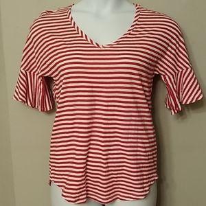 Cabi Woman's S Red&White Stripe Tunic